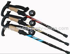 New Carbon Retractable Cork Handle Walking Hiking Pole Trekking Stick Ultralight adjustable walkingoutdoor stick