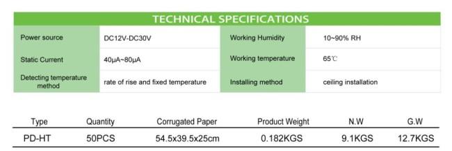 Heat Detector PD- HT