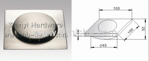 4 Inch Stainless Steel Polished Pop-up Floor Drain put directly