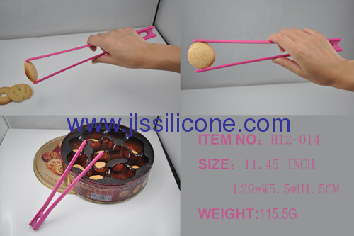 11.45 inch silicone toast tong in candy colors
