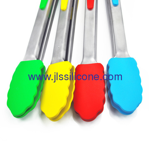 Qualified manufacture for silicone food tong with stainless steel handle
