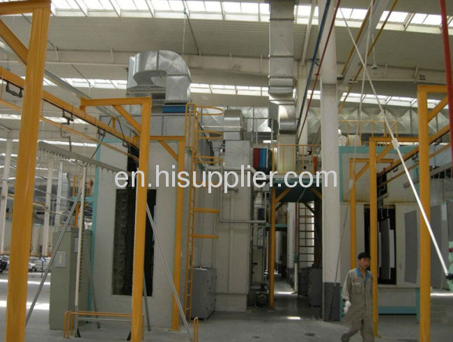powder coating equipment for steel box