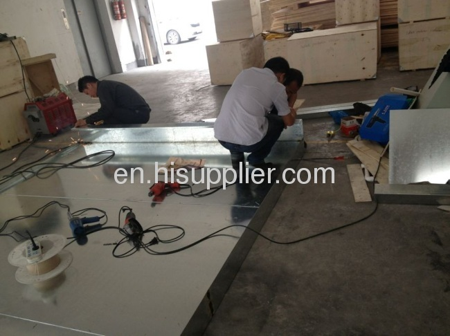 powder coating equipment for steel box
