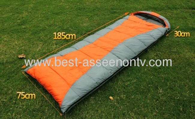 Thermal sleeping bag autumn and winter envelope hooded outdoor camping adult sleeping bag