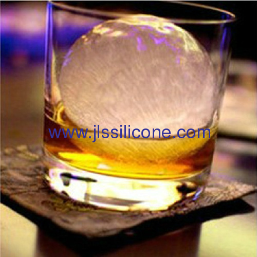 Triple sphered silicone ice ball mould in 2.5 inch