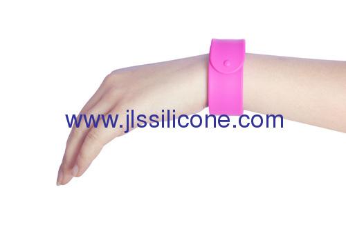 Promotional silicone slap wrist bracelet