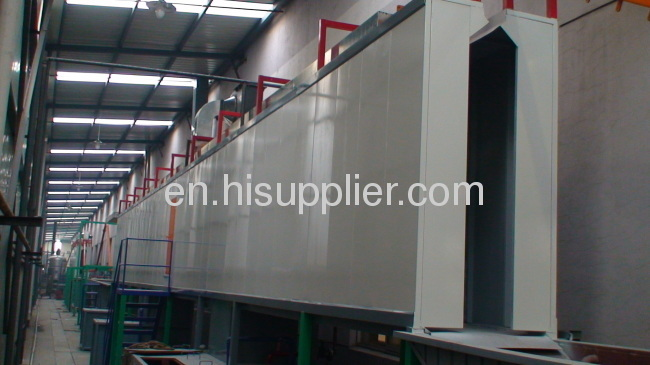 powder coating system for fire extinguisher