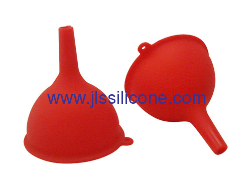 Food approved silicone funnels in middle size