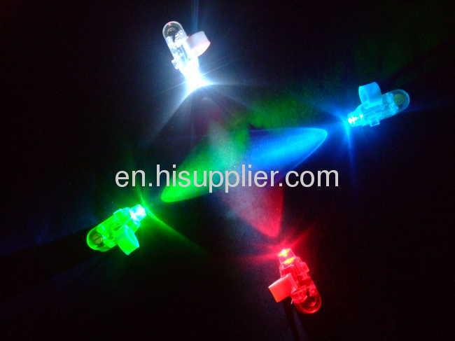Flashing Laser Finger Lamps Glowing at Night