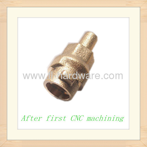 Brass forging and machining processed connector