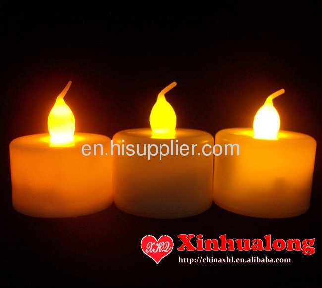 LED flameless flashing candle under remote control