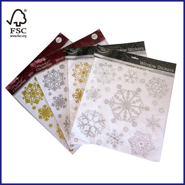 Christmas Decoration Glitter Window Stickers