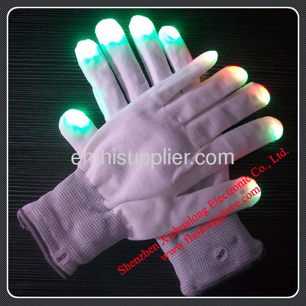Flashing Gloves Sparkling Your Fingers at Night