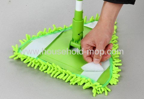 Microfiber triangle clean mop