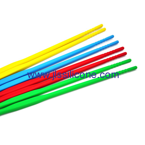 Colorful kitchen tools long silicone chopsticks
