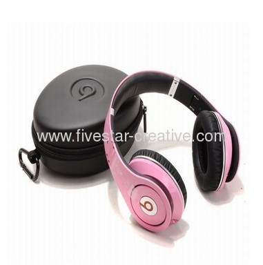 Monster Beats by Dr.Dre Studio Pink High Definition Over-Ear Headphones