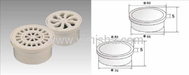 Circular Plastic Floor Drain with Outlet Diameter 70 or 55mm