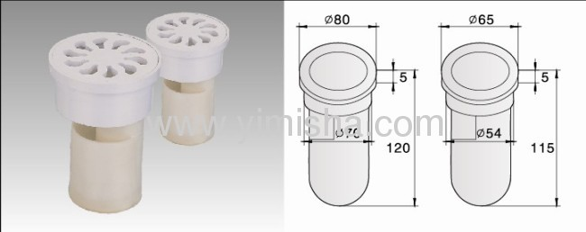 High Water Sealed Plastic Anti-odor Floor Drain with Outlet Diameter 54mm