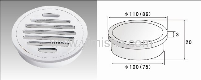 Round Brass Chrome Plated Floor Drain use for Shower