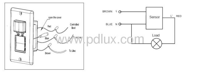 Infrared motion sensor PD-PIR124-V3