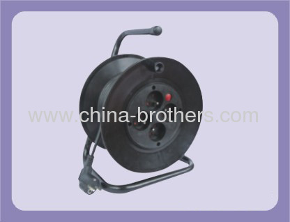 25m 30m French Extension Cable Reel with 4 Outlet Sockets