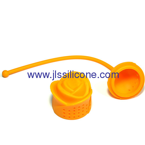 Romantic rose style silicone tea strainer and tea bag
