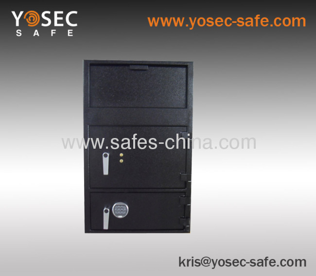 Double door depository safes