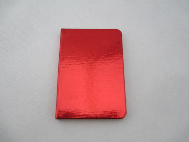red simple hardcover notebook
