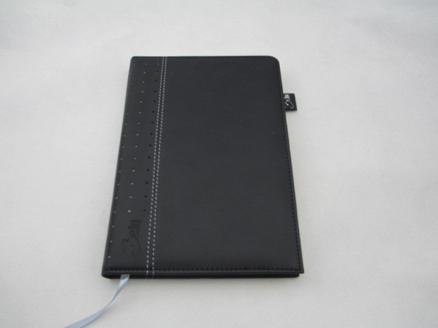 black leather cover notebook