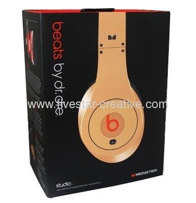 Monster Beats Dr.Dre LeBron James 23 Dull Gold Limited Edition Headphones