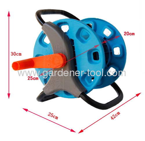 Plastic garden hose reel with 25M 13MM Hose Capacity