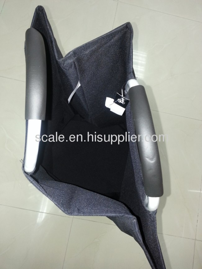 double 600D fabric shopper bag