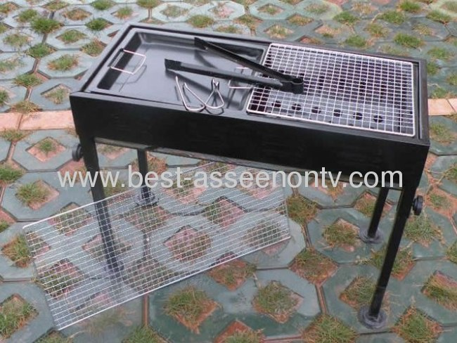 Outdoor portable BBQ Large outdoor barbecue grill stove household charcoal bbq