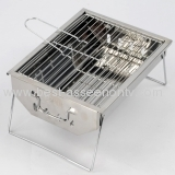 New style stainless steel barbecue pits but fold, portable carrying outdoor barbecue grill buffet BBQ Burn oven