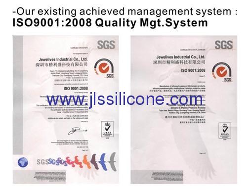 Envelope shaped silicone wallet bag