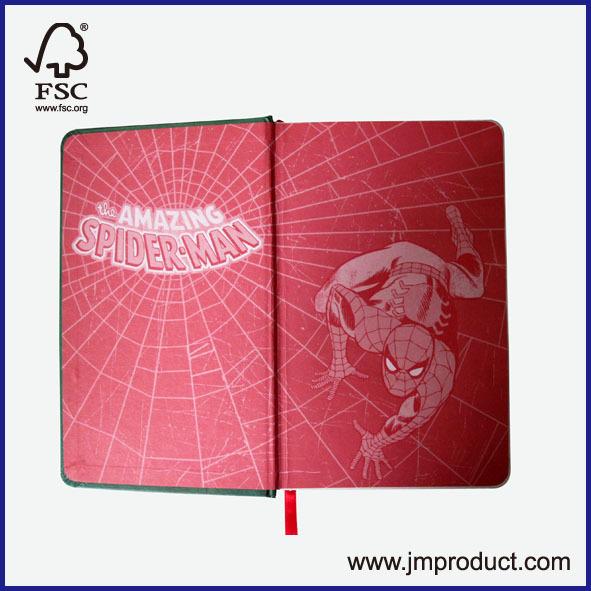spinder man hardcover notebook