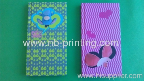 delicated hardcover notebook with colorful inner