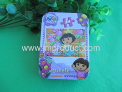 Minnie 24 paper puzzle in tin