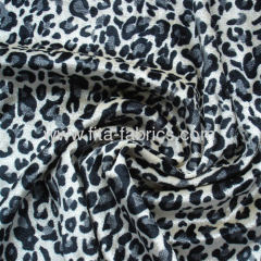 100% polyester panther printed crushed panne