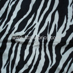 Polyester zebra printed panne