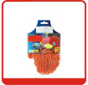 Chenille glove car cleaning with color card packing,24pcs/box