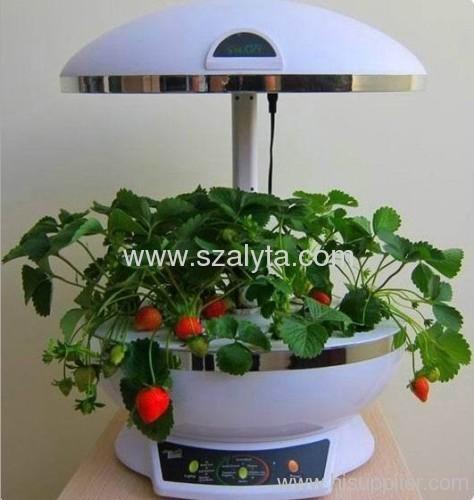 white flowerpot lamp lighting