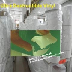 destructive vinyl for printing security sticker