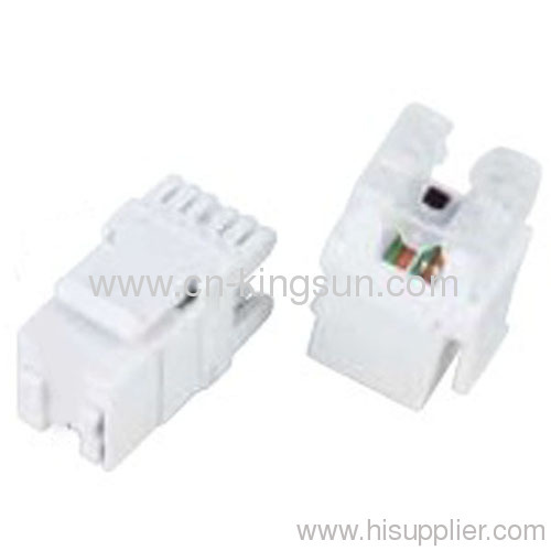 180° RJ45 Keystone Jack with dust cover