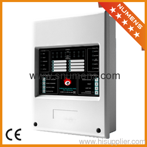 8 loops conventional fire alarm system control panel from