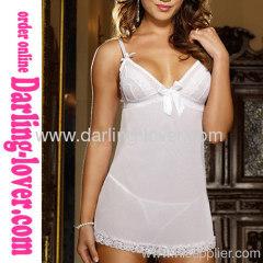 White Sexy Fashion Mini Dress