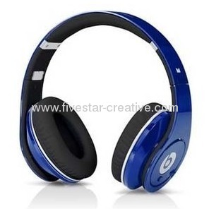 Beats High Definition Sapphire Blue Powered Headphones