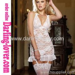 White Sexy Lace Mini Dress