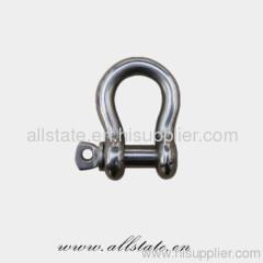 D shape galvanized screw shackle