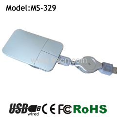 flat retractable Cable mouse optical mouse